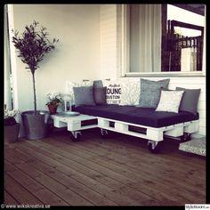 soffa,trädgård,uteplats,altan,lastpallar