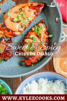 This spicy, sweet and creamy Chicken Diablo is a super easy dinner, that will satisfy the family. Ramp the heat up, or dial it down to your liking! #chicken #dinner #marinade #spicy #kyleecooks via @kyleecooks Healthy Chicken Recipes, Turkey Recipes, Cooking Recipes, Easy Dinner Recipes, Easy Meals, Delicious Recipes, Dinner Ideas, Super Easy Dinner, Turkey Dishes