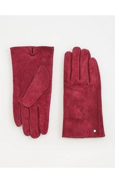 Skórzane rękawiczki, Rękawiczki, czerwony, RESERVED