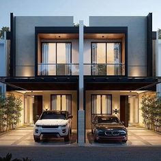 Loft House Design, House Outside Design, Townhouse Designs, Duplex House Design, Home Building Design, House Front Design, Small House Design, Building A House, Modern Exterior House Designs