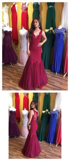prom dresses long,prom dresses applique,prom dresses mermaid,prom dresses modest,prom dresses 2018,prom dresses tulle,prom dresses burgundy #straps #tulle #cheap #2018