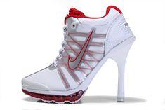 Sale White Red Nike High Heels Air Max 2009