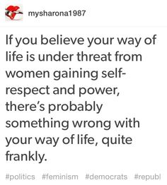 Feminism is not a threat