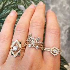 Diamond #ringstacks are a girls best friend xx #zoeandmorgan