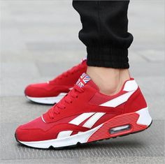 sports shoes abc0f da16e Mens Running Trainer Casual Lace Gym Walking Boys Sports Air Shoes Sneakers