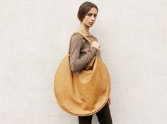 Jasmin ShokrianLeather Compass Bag, Caramel