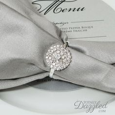 Great Check Out These Stunning Rhinestone Napkin Rings For Only $1.50/each!  Www.totallydazzled.com