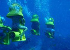Underwater sub in Bahamas. Kinda scary though