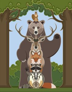 Woodland Totem by RedBadger on Etsy, $20.00