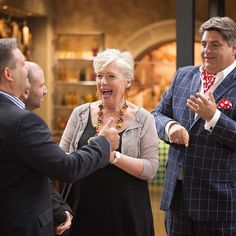 """Always a pleasure to catch-up with the crew from MasterChef""-MB ~Maggie having a laugh with the MasterChef boys~ Gary Mehigan, Masterchef Australia, Have A Laugh, Chefs, Highlights, Mystery, Challenges, Couple Photos, Cute"