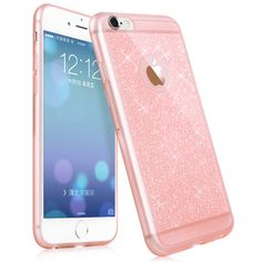 5S 6S pink color phone case For iphone 5 6 6 plus 6s plus mobile phone accessories TPU soft shining golden Bling cover For apple iPhone Covers Online