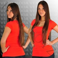 Vero+Moda+MAXI+MY+SS+LONG+U-NECK+NOOS+Top+Rot
