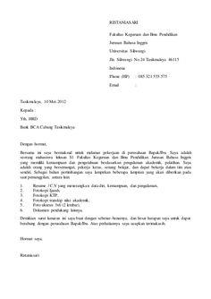 Contoh Surat Lamaran Kerja Di Nsc Finance