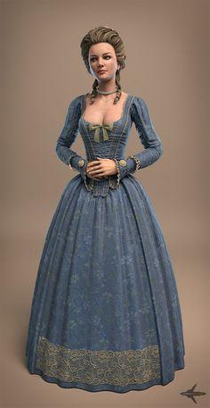 18th century woman, Jesse Sandifer in Showcase of Impressive 3D Characters
