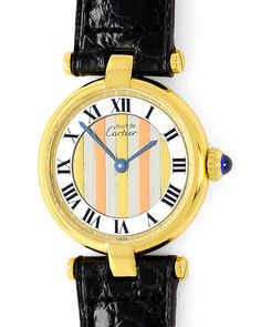 Foto 2, Cartier Vermeil, Vendome Louis Cartier Damen 925 3-Gold, U1667