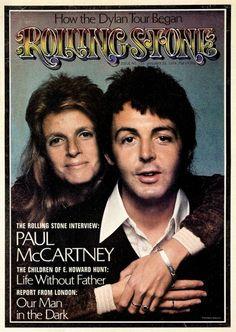 Paul and Linda McCartney ('74)