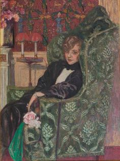 Woman in Armchair - Édouard Vuillard, 1921 Post-impressionism