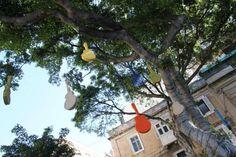 Intervenção urbana inspirada no Għanafest.