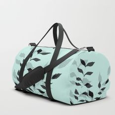 The Shadow of Your Smile Duffle Bag #floral #botanical #dufflebag #carryon #fashion #green #carryall