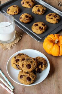 I will definately make so changes, but still want to trip this cookie! Vegan Chocolate Chip Pumpkin Cookies | www.asaucykitchen.com