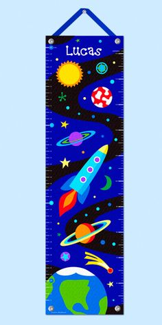 Out Of This World Growth Chart (Space Ships)