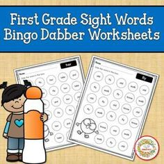 First Grade Sight Word Bingo Dabber Worksheets by Sweetie's | TpT Second Grade Sight Words, Third Grade, Bingo Dabber, Sight Word Bingo, Kindergarten Blogs, School Reviews, Learn To Spell, Teacher Organization, Learning Resources