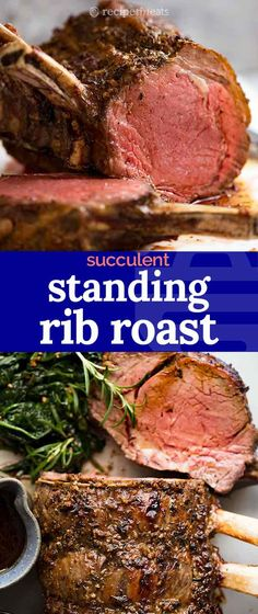 Standing Rib Roast (Prime Rib) - Standing Rib Roast is without a doubt, the BEST roast beef in the world! Also known as Prime Rib, - Slow Roasted Prime Rib, Smoked Prime Rib Roast, Beef Rib Roast, Rib Meat, Smoked Ribs, Beef Tenderloin, Cooking Prime Rib, Cooking A Roast, Rib Recipes