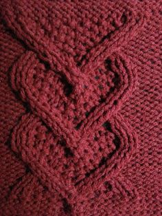 Knit this cable heart panel square 8 SnugglebuggKnits