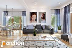 Dom w miłowonkach 2 - zdjęcie od ARCHONhome - Salon - Styl Minimalistyczny - ARCHONhome