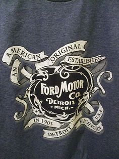 An American USA Original FORD Motors  Mens T shirt $14.99  http://stores.ebay.com/NYC-Fitness-Family-and-Finds
