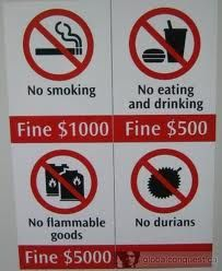 Hahaha no durians !! The smelly fruit.