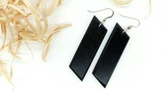 Your place to buy and sell all things handmade Black Drop Earrings, Dangle Earrings, Wooden Earrings, Kind Words, Black Wood, Modern Jewelry, Craft Gifts, Selena, Dangles