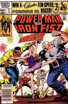 Power Man And Iron Fist 77 Marvel 1982 NM- Luke Cage Daredevil 178 Ballerina Dc Comic Books, Comic Book Covers, Comic Art, Batman Detective Comics, Marvel Comics, The New Mutants, Power Man, Luke Cage, Anime Art