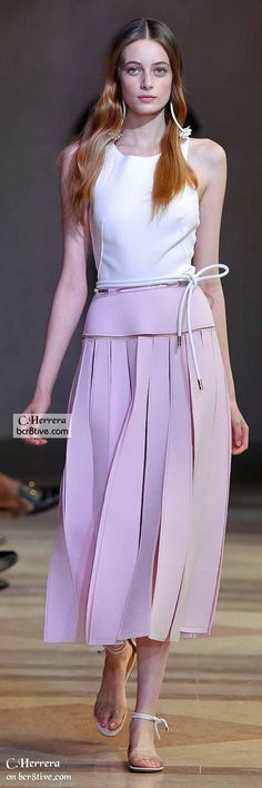 """Carolina Herrera Spring 2016 """"And the LORD said to Moses, """"Go to the people and consecrate them today and tomorrow. Have them wash their clothes."""" Exodus 19:10"""