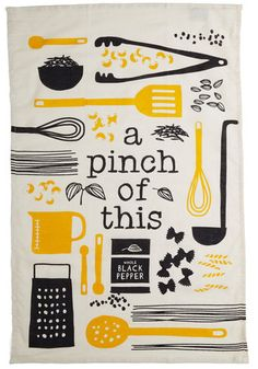 Princess and the Recipe Tea Towel Set, #ModCloth ***Take design, place on Canvas for kitchen art***(cookbook cover design)