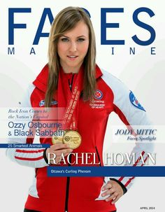Rach on the cover of faces magazine Curling Canada, Ozzy Osbourne Black Sabbath, Happy Words, Sport Girl, Amazing Women, Are You Happy, Curls, Rocks, Sporty