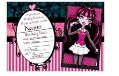 Monster High Invite {{Free Printable}} |