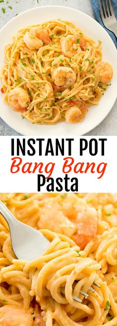 Instant Pot Bang Bang Pasta. Easy, flavorful and no need to drain the water from the noodles!