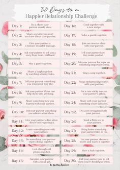 30 Days to a Happier Relationship Challenge-min 15 of the best creative ways to show love to your signifiicant other. Learn these tips on how to say
