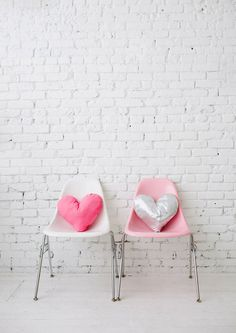 heart pillows by designlovefest