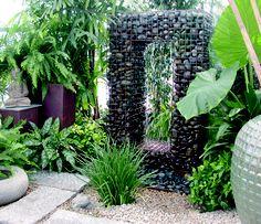 Gabion Water Fountain - Ancient Design Modern Fountain contemporary-outdoor-fountains-and- Diy Garden, Dream Garden, Garden Art, Garden Design, Garden Walls, Contemporary Outdoor Fountains, Modern Fountain, Rock Fountain, Fountain Ideas