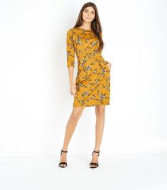 Yellow Floral Tulip Dress | New Look