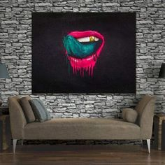 handpainted Wall Art oil Painting for Living Room The Red Lips Canvas Oil Painting Modern Pop Art Home Decor for bar wall decor Abstract Canvas Wall Art, Oil Painting On Canvas, Famous Pop Art Artists, Modern Pop Art, Canvas Home, Living Room Paint, Big Canvas, Roy Lichtenstein, Andy Warhol