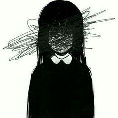 Sad Drawings, Dark Art Drawings, Art Drawings Sketches, Dark Anime Girl, Anime Art Girl, Anime Girl Triste, Art Anime Fille, Gothic Anime, Aesthetic Art