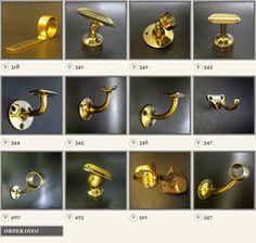 brass hand rail fittings for stairwell