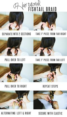 Hair Tutorial // Fishtail Braid I finally figured this out! So super excited about it :) It's not hard at all.