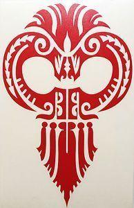 Hawaiian Warrior mask | Hawaiian-Warrior-Red-Tribal-Ikaika-Mask-Vinyl-Sticker-Car-Truck-Boat ... #marquesantattoosleg