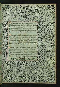 Lace Book of Marie de' Medici, Lace margins, Walters Manuscript W.494, Folio 50r | by Walters Art Museum Illuminated Manuscripts