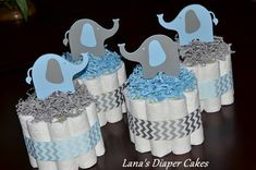 @sbordine @mustangsherie This is a cute idea for boy baby shower centerpieces, one for each.