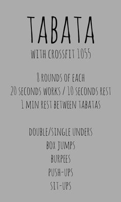 tabata workout at crossfit 1055
